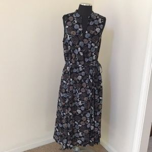 New! Anne Klein Size medium black combo midi dress